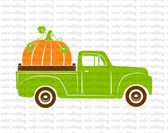 Halloween, Harvest svg, Thanksgiving svg, pumpkin svg, truck svg, fall svg, dxf, cutting files for Silhouette Cameo, Portrait, Curio, Cricut