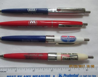 Advertising pens for gas/oil/auto related companies - four total