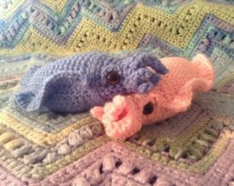 Cuttlefish, crochet cuttlefish, cuttlefish toy.