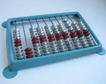 Rare Pocket Metal Vintage Soviet  Russian abacus