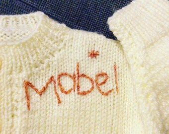 Personalised hand knits