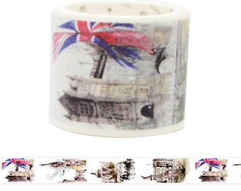 Travel Edition for Scrapbook - England Watercolor Painting Washi Tape
