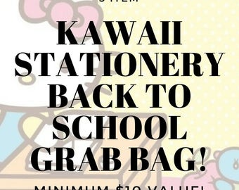 5 Item Kawaii Stationery Back-To-School Grab Bag // Minimum 10 Dollar Value // Sanrio, San-X, and Studio Ghibli Random Draw // School Supply