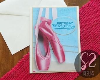 Handmade Ballet Birthday Card