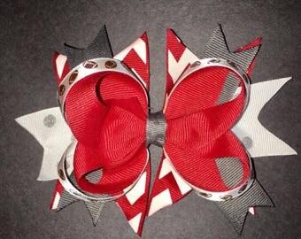 Ohio State Football spirit bow