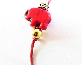 Waxed cotton bracelet waxed 17496