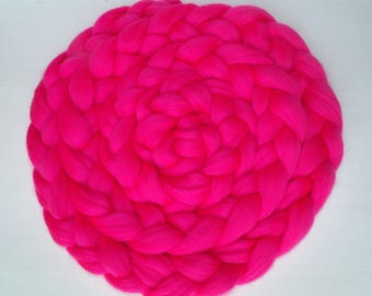Woven Neon Shooting sessions and baby child pink Merino Wool