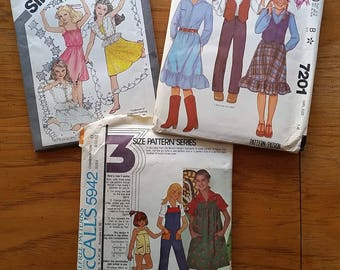 Vintage Teen Girls' Patterns - McCall's 5942 and 7201 and Simplicity 9938