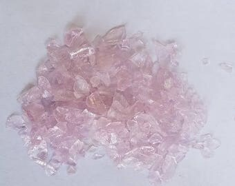Recycled Glass topdressing glass mulch aquarium decor by the pound LIGHT PINK