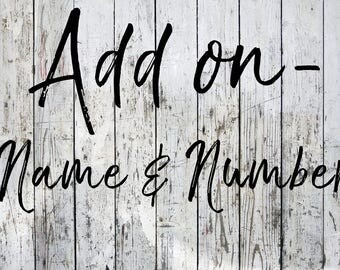 Add On- Name/Number