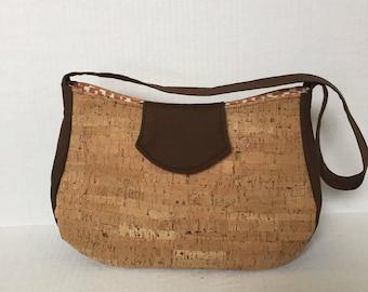 cork and cotton fabric purse cork purse cork handbag cork bag cork
