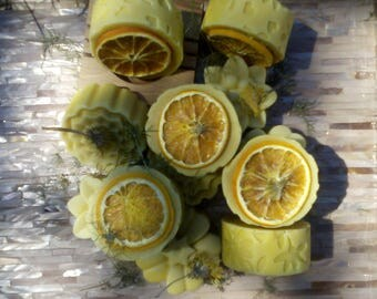 All Natural Carrot and Orange  Handmade Soap, Hempseed and Olive Oil. .  Vegan.  Palm and SL Free