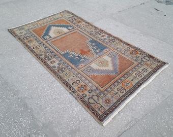 Vintage rugs,oushak rug,turkish rug,floor rug,hand made rug,vintage oushak rug,rugs,3.2x5.8 feet
