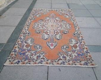 Oushak rug, Vintage Turkish rug, area rug, bohemian rug, Anatolian rug, floor rugs Home & Living, hand made rug,vintage rugs,4.0 x7.0 feet.