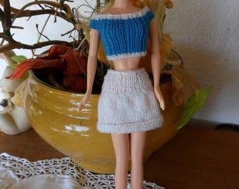 set of city, skirt, hand knit sweater