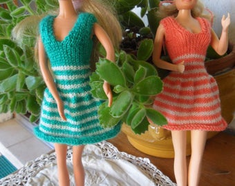 short striped Barbie dress