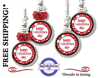 HANDMADE VALENTiNE Earrings, Beads, Gift Box Avail- Best Seller +FREE SHIPPING & Discounts*
