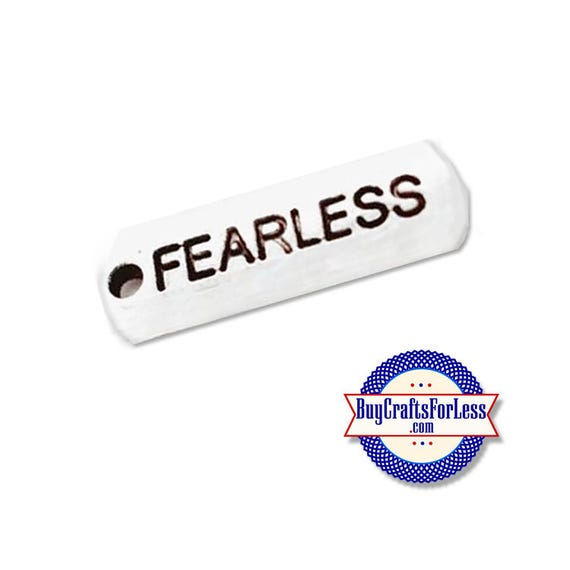 FEARLESS, Affirmation Charms, 4, 8, 12 pcs  +FREE ShiPPing & Discounts*