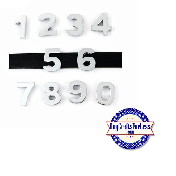 Silver Slider NUMBER CHaRMS, PLAIN for 8mm slide bracelets, collars, key rings and bracelets  +FREE Shipping & Discounts*