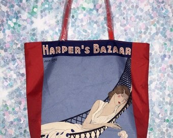 Vintage Harper's Bazaar Tote Bag