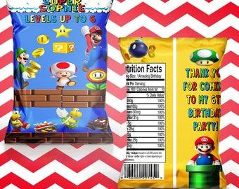 Super Mario chip/treat bag(set of 15)