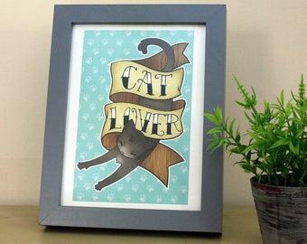 Cat Lover A5 Art Print
