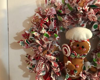 Gingerbread house wreath