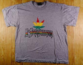 20% OFF Vintage Cannabis Marijuanna Weed Jamaica Rasta Tshirt
