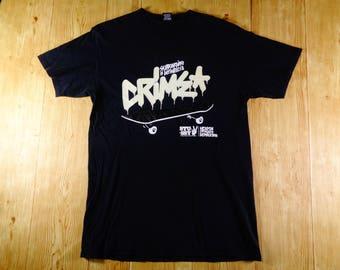 Rare! Vintage STUSSY Crimza Skateboard Weapon Of Mass Destruction Shirt
