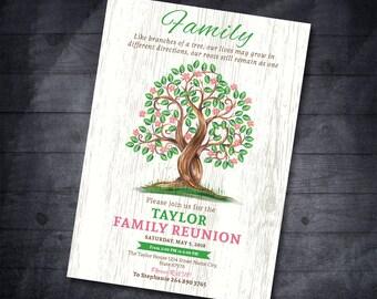 Family tree invitation Family Reunion Invitation Reunion Invitation Family Party Reunion Invitation Family Reunion Party