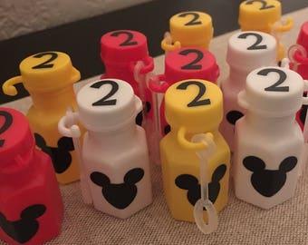 MICKEY PARTY FAVORS, Mickey Mouse Birthday Party, Mickey Birthday Decoration, Disney Birthday  Party, Mickey Bubbles