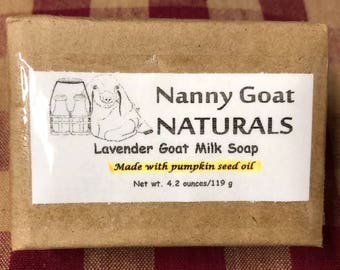 Lavender Goat Milk Soap (Made with pumpkin seed oil)