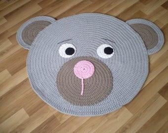 Sale Crochet Rug, Nursery Rug, Baby Play Mat, Kinder Teppiche, Carpet Rug