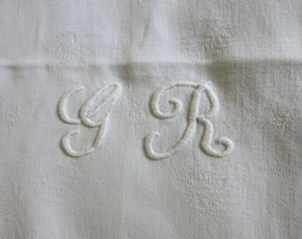 White Tablecloth Handmade Vintage - 1930s