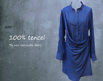 tencel drape tunic, tencel dress, tencel tunic dress