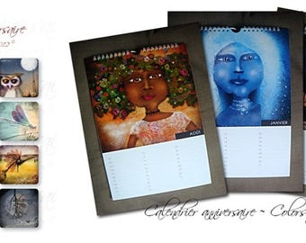 Birthday calendar ~ Colors of Poulili ©