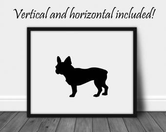 French Bulldog Frenchie Dog Print Dog Owner Gifts Dog Lover Gift Dog Silhouette Wall Art Printable Art Prints Wall Decor Instant Download