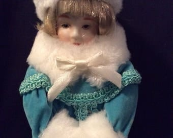 Winter Blue porcelain doll