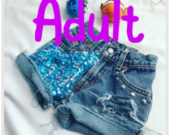 Under the sea- Ariel- little mermaid- Disney - Disneyland- Disney world- shorts - princess- vacation- birthday- women's - Minnie Mouse