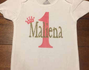 Personalized Birthday Onesie