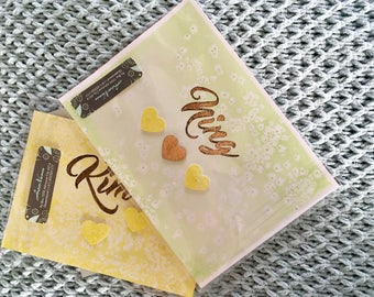 Personalised Water colour gift calligraphy - WF Artnames