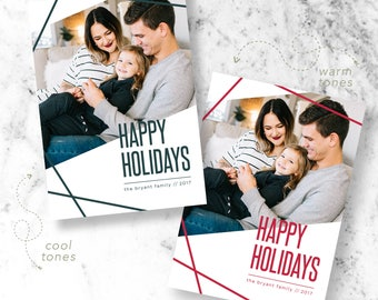 Geo Christmas Holiday Photo Cards