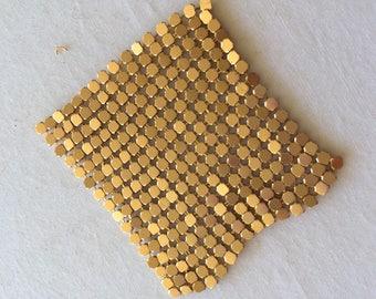 Mesh gold metal 5 cm square