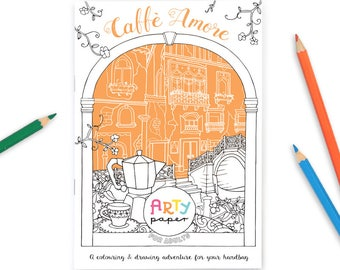 Caffe Amore- Adult Colouring Book