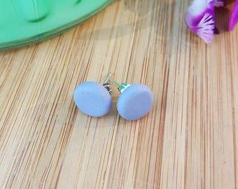Bluestone polymer clay stud earrings