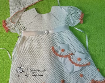 Christening gown, evening dress with Hat and socks