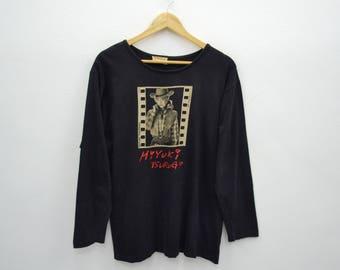 MIYUKI TSURUGI MT Shirt Vintage Miyuki Tsurugi Mt Project Film Strip Top Star Long Sleeve Tee T Shirt Size L