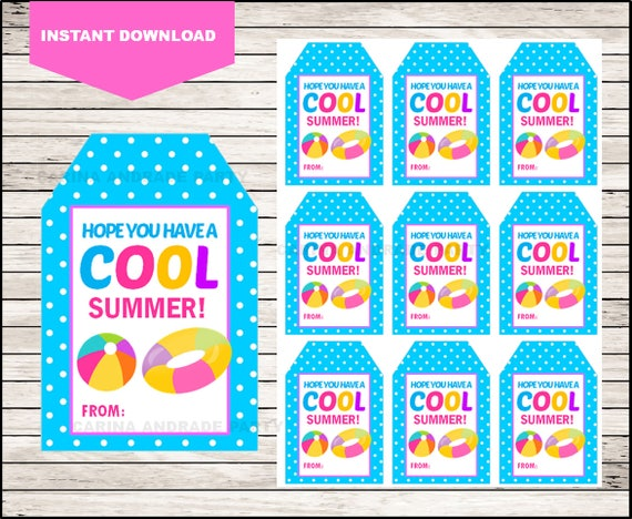 It's just a photo of Terrible Have a Cool Summer Printable