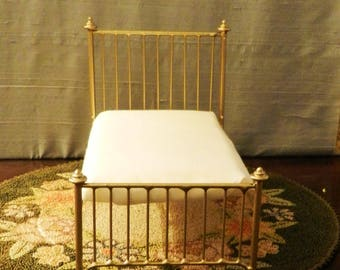 "Artisan Made American Girl 20"" Scale Wrought Iron Look Bed ""Olivia"""