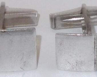Vintage Cuff Links/Silver..7/8 x 1/2 inch